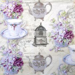 Szalvéta - Teás csésze