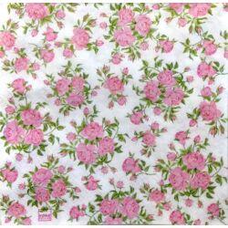 Szalvéta - Kicsi rózsa minta