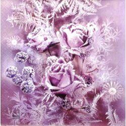 Szalvéta - Deres rózsacsokor