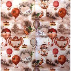 Szalvéta - Vitage légballon