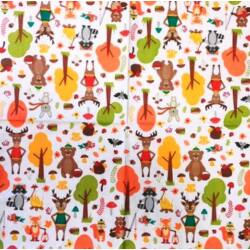 Szalvéta - Rajzolt őszi állatkák