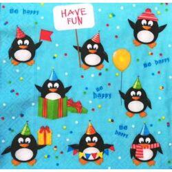 Szalvéta - Vidám pingvinek