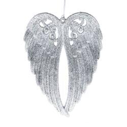 Glitteres angyalszárny, ezüst