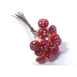 Mini gomba betűző, piros