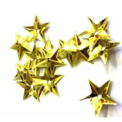 Csillag alakú flitter, arany - 6 gramm