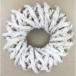 Sodrott koszorú fehér 30 cm