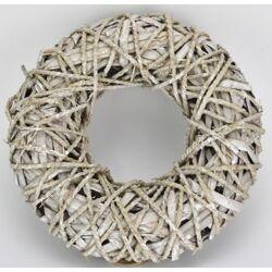 Köteles koszorú fehér 27 cm