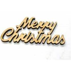 """Merry Christmas"" felirat 9,5cm"