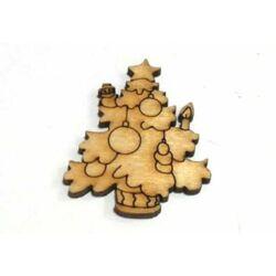 Karácsonyfa fafigura