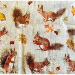 Szalvéta - Kicsi mókusok
