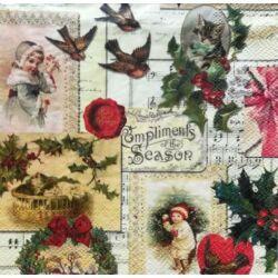 Szalvéta - Karácsonyi képeslapk