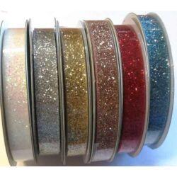 Glitteres szalagok, 1cm széles