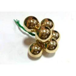 Üveggömb betűző  szett 2cm arany