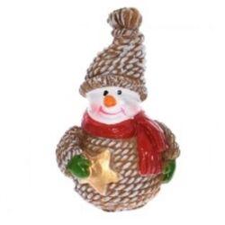 Hóember kötött pulcsis 4,5cm barna