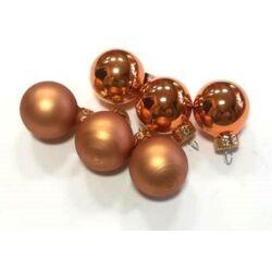 Karácsonyi gömb szett  2,5cm bronz