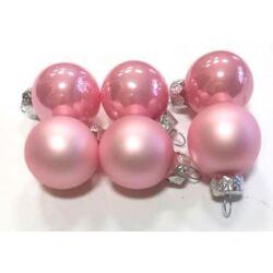 Karácsonyi gömb szett 2,5cm rózsaszín