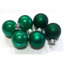Karácsonyi gömb szett  2,5cm smaragdzöld