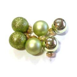 Karácsonyi műanyag gömb szett  2,5cm zöld