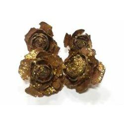 Arany glitteres barna tobozrózsa