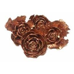 Metál tobozrózsa, bronz