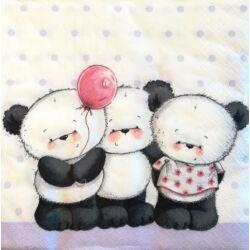 Szalvéta - Panda macik