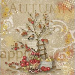 Szalvéta - Alma fa ősszel