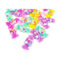 Műanyag dekor - Pöttyös kocka cukorka