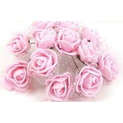 Mini polyfoam rózsa tüllös - rózsaszín