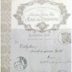 Szalvéta - Feliratos, dombornyomott ezüst