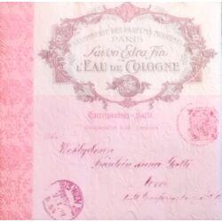 Szalvéta - Feliratos, dombornyomott pink
