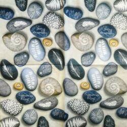 Szalvéta - Rajzolt kavicsok