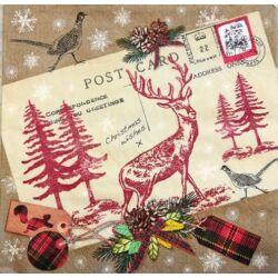 Szalvéta - Karácsonyi képeslap