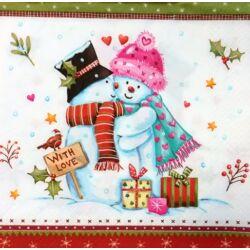 Szalvéta - Hóember szerelem
