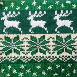 Szalvéta - Norvég minta, zöld
