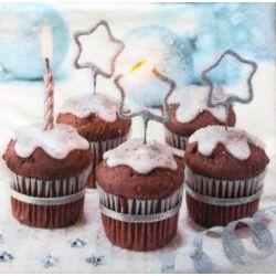 Szalvéta - Csokis karácsonyi muffin