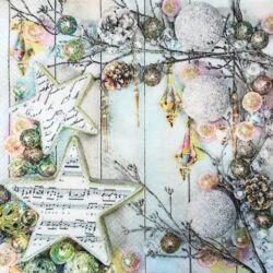 Szalvéta - Karácsonyi díszek