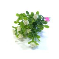 Mini apró virág csokor fehér, 11cm