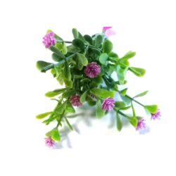 Mini apró virág csokor rózsaszín, 11cm