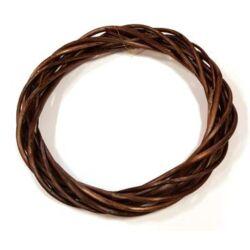 Vessző  koszorú sötétbarna színű, vékony 25cm