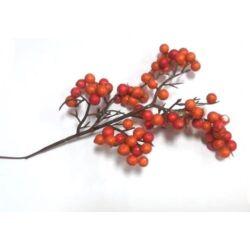 Bogyós ág piros-narancs