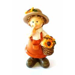 Napraforgós figura, lány, narancs