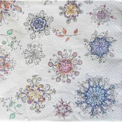Szalvéta - Virág mandala