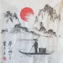 Szalvéta - Japán csónak