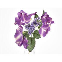 Hortenzia betűző  lila-krém