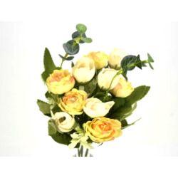 Angol rózsa csokor krém-sárga