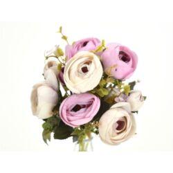 Boglárka csokor holland rózsaszín-krém