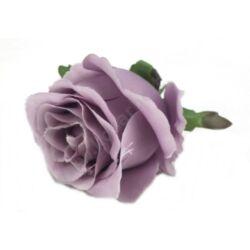 Beszúrós rózsafej pasztell lila 6,5cm