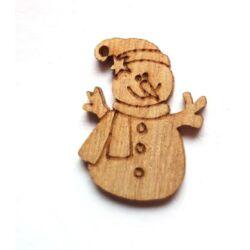 Csillagos hóember figura, natúr, 1db