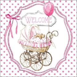 Szalvéta - Welcome pink