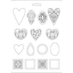 Lágy PVC öntőforma, A4 - Gyémántok